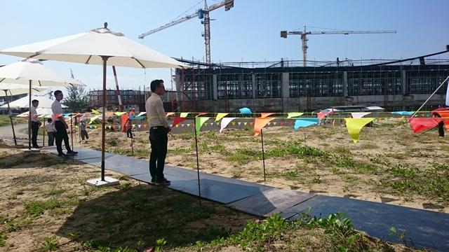 Khu khách sạn thuộc dự án đang được xây dựng