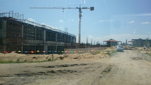 Công trình khách sạn đang xây dựng ở New Hoi An City