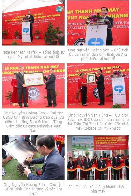 Công ty TNHH Colgate Palmolive Việt Nam khánh thành chi nhánh tại KCN Mỹ Phước (1)
