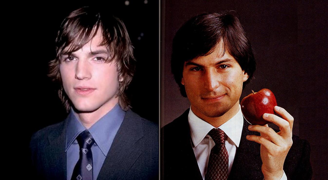 Ashton Kutcher (trái) sẽ vào vai Steve Jobs trong bộ phim độc lập về cuộc đời của nhà đồng sáng lập hãng Apple.