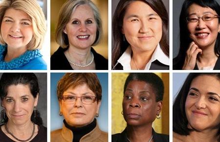 Họ đều là những phụ nữ đang đảm nhận những cương vị trọng yếu trong các tập đoàn công nghệ hàng đầu thế giới như IBM, Cisco... - Ảnh: CNN.