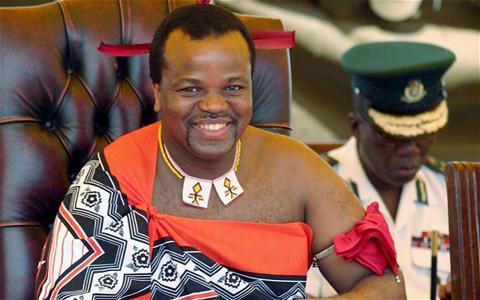 Nhà vua Mswati III. Ảnh: AP