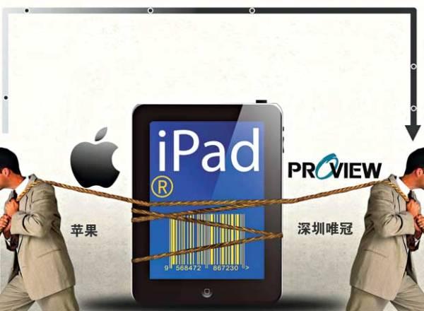 Cuộc giành giựt thương hiệu iPad tại Trung Quốc giữa Apple và Proview. Ảnh: TL