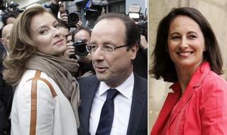 Tân Tổng thống Pháp bên cạnh người tình và vợ cũ.