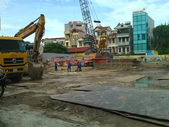Chùm ảnh tiến độ dự án dọc trục Láng Hạ - Lê Văn Lương (4)