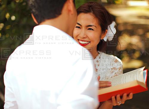 Nhan sắc rực rỡ của cô dâu Tăng Thanh Hà.