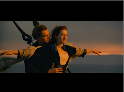 Cảnh trong trailer phim Titanic 3D.