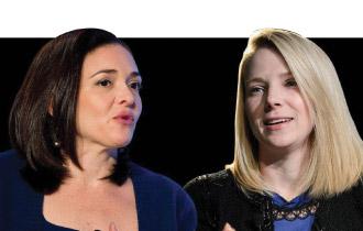 """Trong khi Sandberg dành nhiều tâm huyết thay đổi thế giới thì Mayer lại tập trung phát triển Yahoo!. Cô nói: """"Thứ tự ưu tiên của tôi là Chúa, gia đình và Yahoo!""""."""