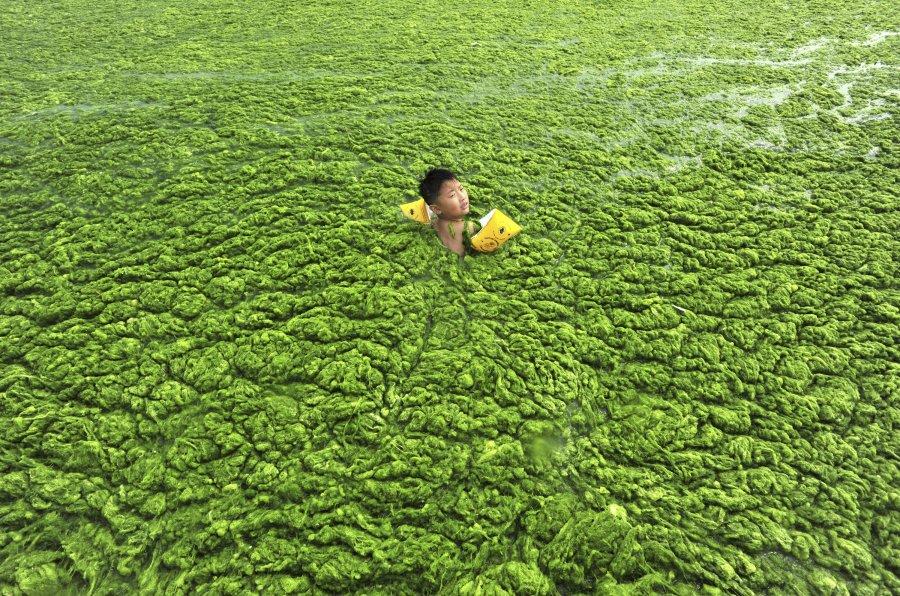Hình ảnh đáng sợ về những nguồn nước 'chết' ở Trung Quốc (2)