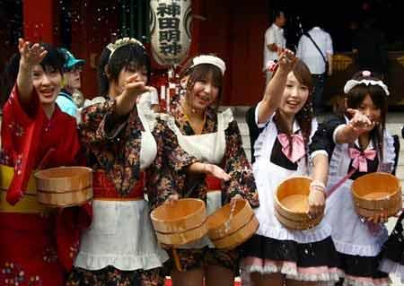 Bộ đồng phục hầu gái đã được lấy cảm hứng từ phim hoạt hình Nhật Bản.