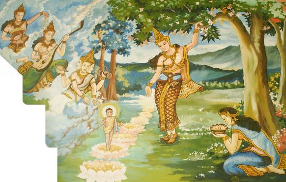 Mùa Phật Đản nói về 7 bước hoa sen