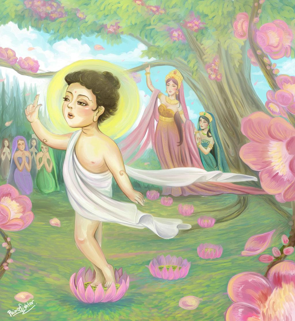 Mùa Phật Đản nói về 7 bước hoa sen (1)