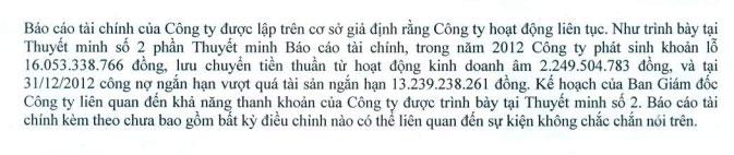 BKC: Kiểm toán lưu ý khoản đặt cọc 9,25 tỷ đồng vào khai thác mỏ vàng Pắc Lạng (2)