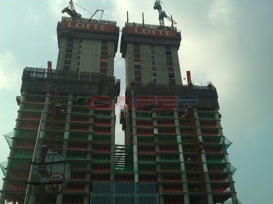 Chùm ảnh tiến độ thi công một số dự án khu vực Cầu Giấy (1)