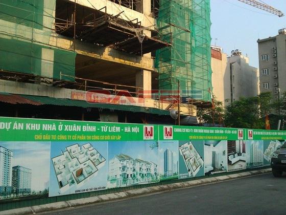 Chùm ảnh tiến độ thi công một số dự án khu vực Cầu Giấy (14)