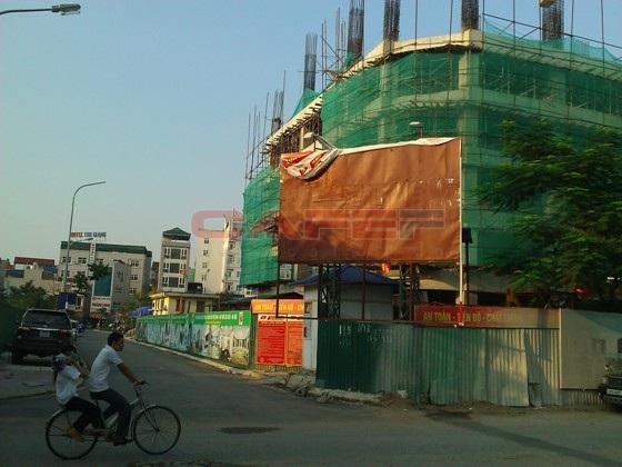 Chùm ảnh tiến độ thi công một số dự án khu vực Cầu Giấy (12)