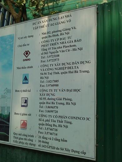 Tiến độ hàng loạt dự án khu Giảng Võ, Ba Đình (15)