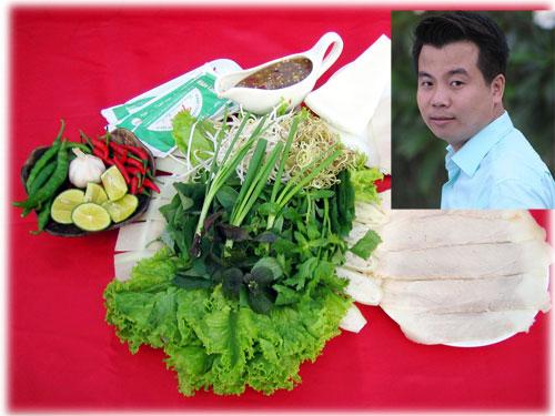 Đặc sản nổi tiếng của Trần - bánh tráng cuốn thịt heo 2 đầu mỡ và ông chủ 32 tuổi thành công từ đồng vốn 8,5 triệu đồng (ảnh nhỏ) - Ảnh: Bảo Nguyên