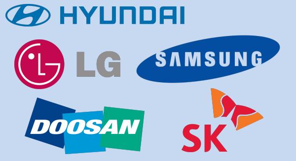 Những chaebol lớn nhất Hàn Quốc. Ảnh: Internet