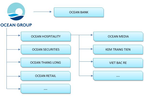 Cơ cấu tổ chức của ocean group