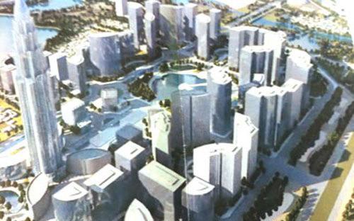 Một góc phối cảnh dự án mà Global Sphere dự định xây tại Hà Nội.