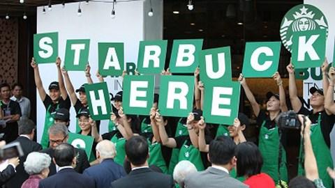 Cửa hàng Starbucks đầu tiên đã mở ở trung tâm TP.HCM.