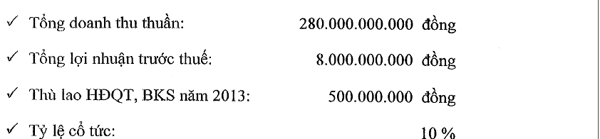 ONE: Thông qua kế hoạch chi cổ tức 10% năm 2013 (2)