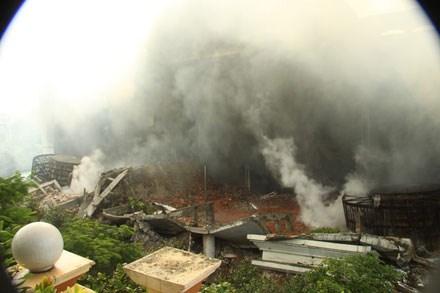 Cháy Trung tâm thương mại Hải Dương là do chập điện