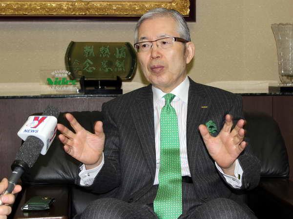 Chủ tịch Tập đoàn NIDEC Shigenobu Nagamori đặt ra chiến lược kinh doanh 100 năm tại Việt Nam. (Ảnh: Hữu Thắng/Vietnam+)