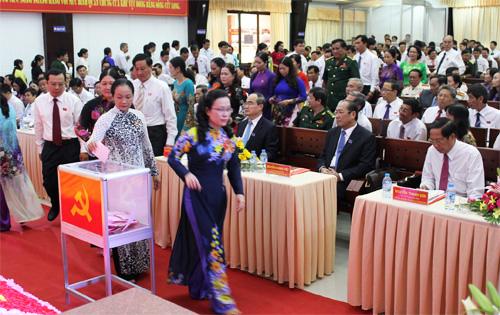 Đại biểu dự Đại hội bầu cử Ban Chấp hành nhiệm kỳ 2015 – 2020. (Ảnh: Thanh Trần)