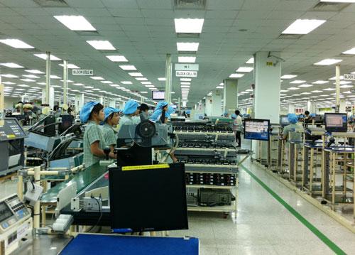 Một dự án của Samsung tại Khu công nghiệp Yên Phong - Bắc Ninh. Ảnh: Báo Bắc Ninh.