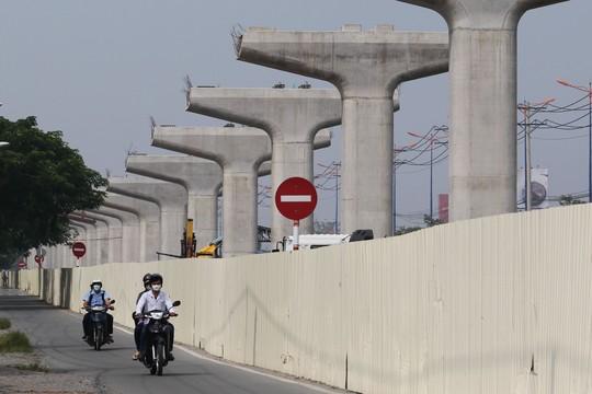 Dự án tuyến đường sắt số 1 (Bến Thành - Suối Tiên) chậm tiến độ so với kế hoạch ban đầu Ảnh: Hoàng Triều