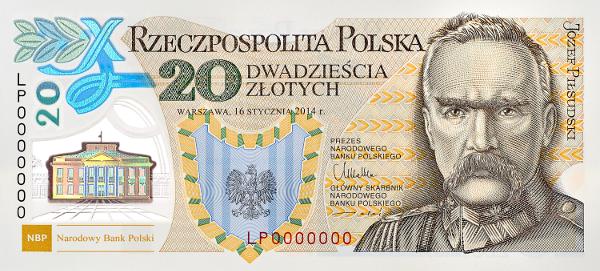 Tờ 20 Zlotych của Ba lan