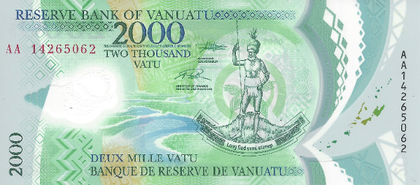 Tờ 2,000 Vatu của Vanuatu