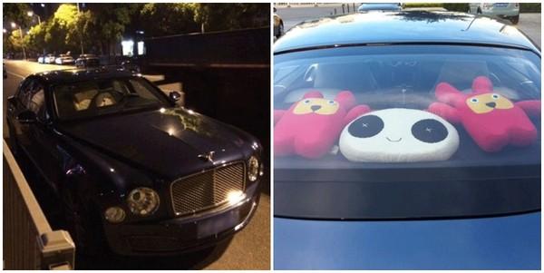 Chiếc xe Bentley gần đây Vương Tư Thông hay sử dụng.