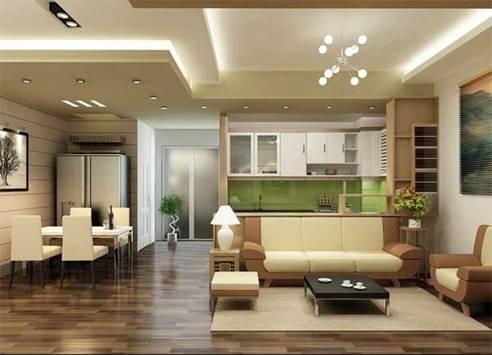 Để hoá giải điều xấu và tăng thêm tính thẩm mỹ cho căn phòng, bạn có thể sử dụng trần giả lót dưới lớp xà