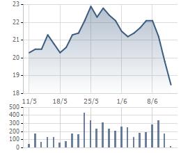Cổ phiếu JVC đã lao dốc trong phiên cuối tuần với dư bán sàn lớn