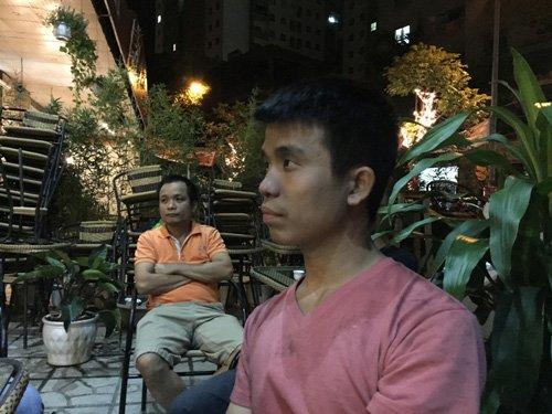 Anh Nguyễn Trọng Bằng (32 tuổi), ở tầng 27 tòa nhà CT4A, người dân thoát khỏi đám cháy.