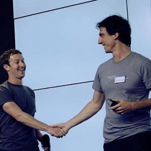 Codorniou và nhà sáng lập kiêm CEO Facebook, Mark Zuckerberg, chụp năm 2012.