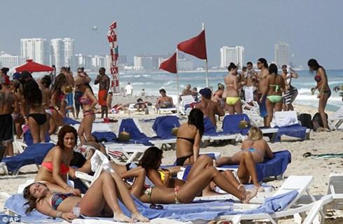 Bãi biển Cancun.