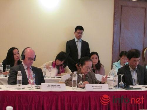 Chuyên gia kinh tế Phạm Chi Lan phát biểu tại diễn đàn