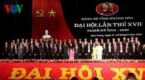 Ban Chấp hành Đảng bộ tỉnh Khánh Hòa khóa 17 nhận nhiệm vụ