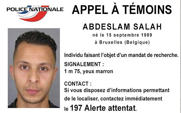 Kẻ đang bị truy nã Salah Abdeslam.