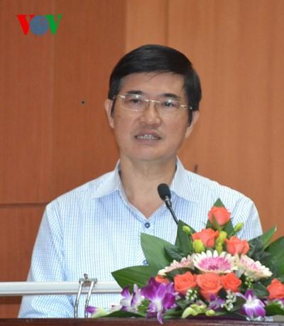 Bí thư Tỉnh ủy Quảng Nam Nguyễn Ngọc Quang phát biểu nhận nhiệm vụ