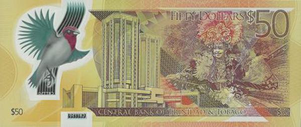 Tờ 50 đô la của Trinidad và Tobago (Mặt sau)