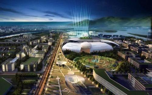 Tòa nhà chính quyền Khánh Hòa được tạo hình khối như một quả trứng khổng lồ đang nở.