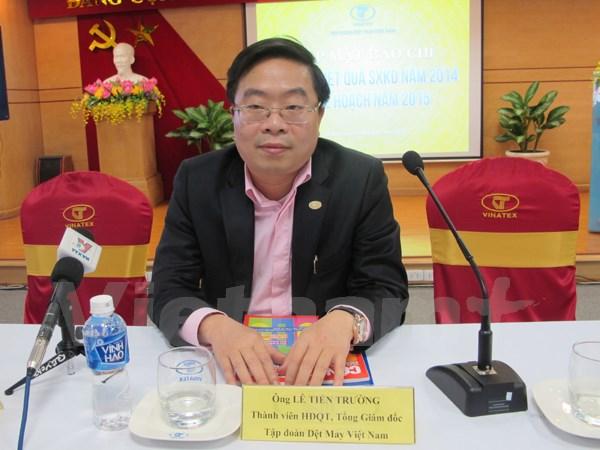 Ông Lê Tiến Trường, Tổng Giám đốc Tập đoàn Dệt may Việt Nam (Ảnh: Đức Duy/Vietnam+)