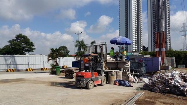 Dự án The Everich 3 của Phát Đạt đang thi công gần hoàn thiện tầng hầm.