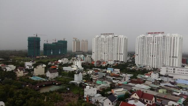 Một góc khu Nam Sài Gòn nhìn từ trên cao.