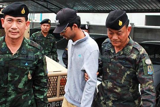 Báo chí Thái Lan cho biết nghi phạm bị bắt hôm 31-8. Ảnh: Bangkok Post